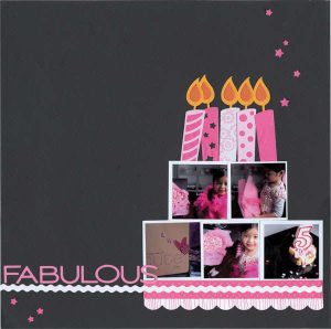 Birthday scrap page