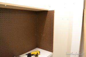 Craft closet under construction