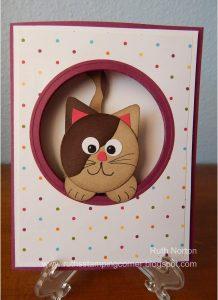Cute Wiggly Cat Card