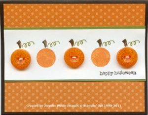 Button Pumpkin Card