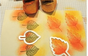 fall leaf stamps