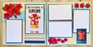 Free Tropical Scrapbook Layouts