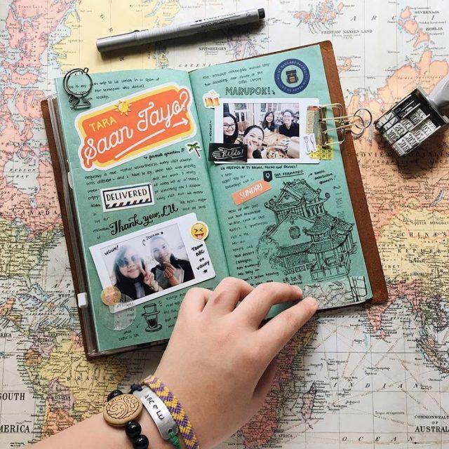 Traveler's Notebook Scrapbook Idea