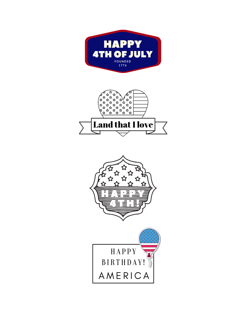 image about Free Printable Sentiments for Handmade Cards known as 7 Selfmade Card Strategy Inspirations for 4th of July