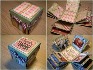 Exploding scrapbook box