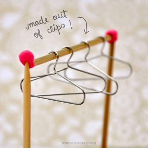 Mini clothes hangers
