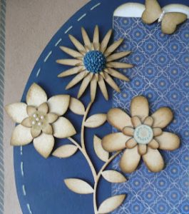 Wooden shape flowers