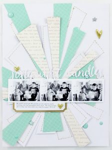 Scrapbook birthday page layout