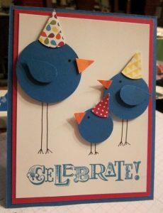 Birds Celebrate card