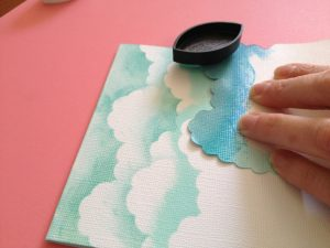 DIY clouds with ink