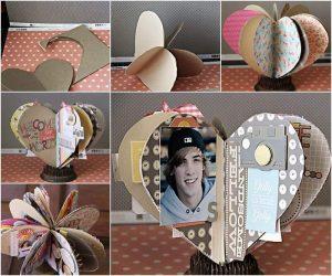 DIY-3D-Paper-Heart-Mini-Album