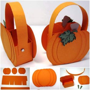 Cute-Little-Paper-Pumpkin-Basket