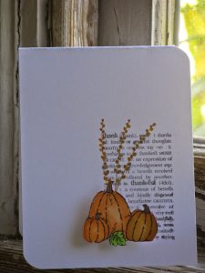 10 minute fall card