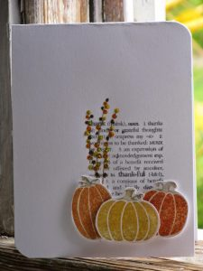 10 minute pumpkin card