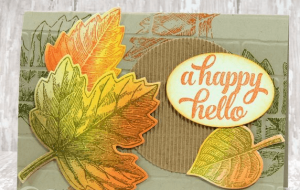 fall stamped card