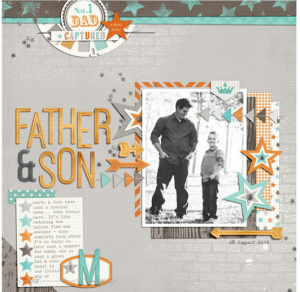 father son layout