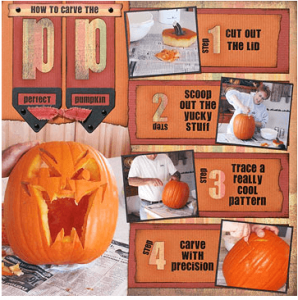 halloween layout