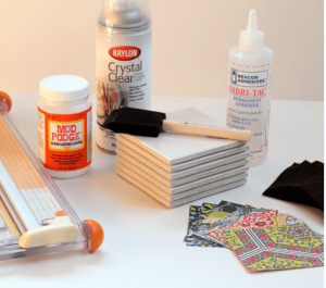 tile coaster supplies