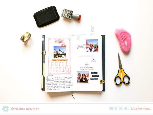 TRAVELER'S NOTEBOOK scrapbook layout idea