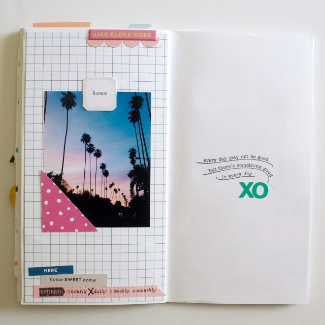 TRAVELER'S NOTEBOOK scrapbook layout
